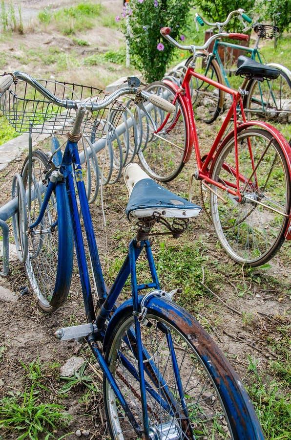 Roczników starzy bicykle obrazy royalty free
