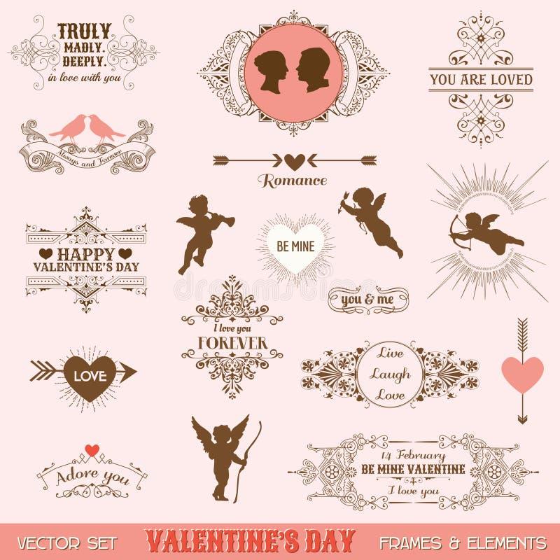 Roczników sztandarów i ram miłości temat ilustracji