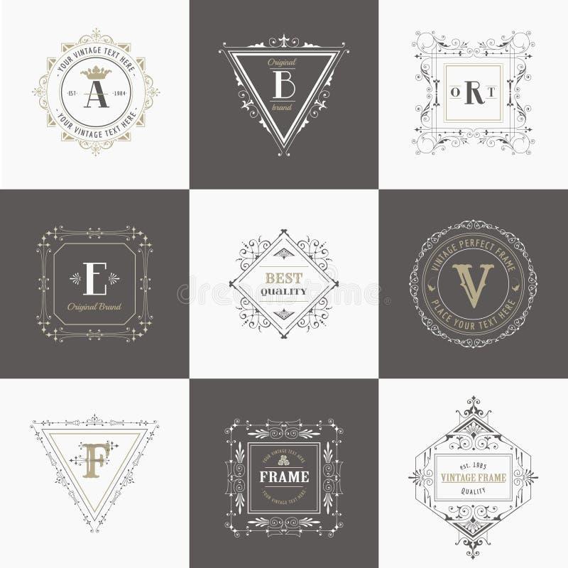 Roczników sztandary i ramy royalty ilustracja