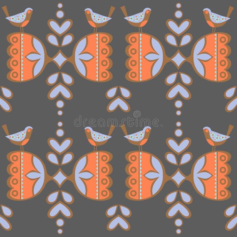 Roczników tła, etniczny ornament, bezszwowy wzór ilustracja wektor