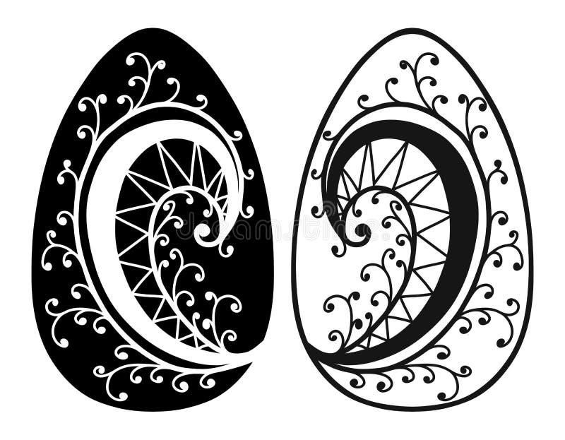 Roczników Wielkanocnych jajek wiosny sezonu wektor odizolowywał ilustrację royalty ilustracja