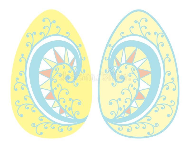 Roczników Wielkanocnych jajek wiosny sezonu wektor odizolowywał ilustrację ilustracji