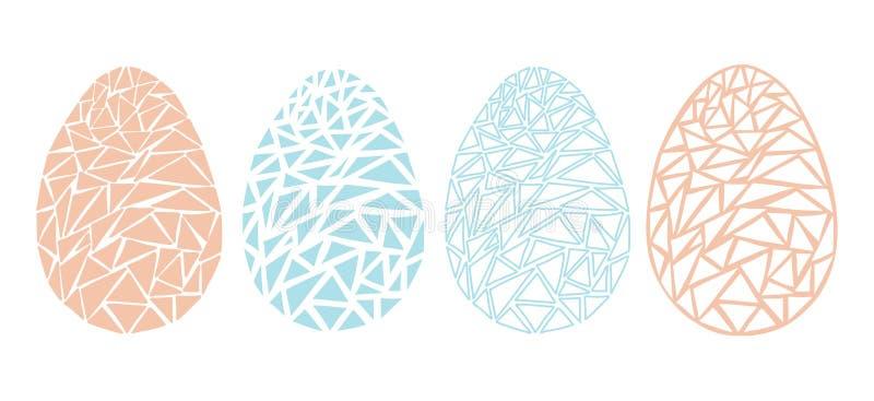 Roczników Wielkanocnych jajek wiosny sezonu wektor odizolowywał ilustrację ilustracja wektor