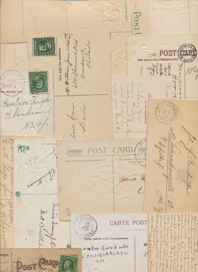 Roczników znaczki pocztówki i obrazy royalty free