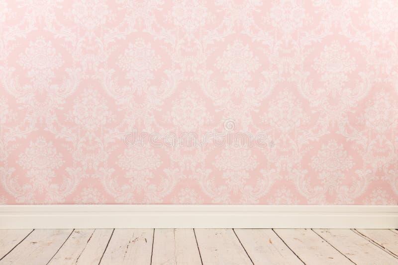 Rocznik ścienna i drewniana podłoga obrazy royalty free