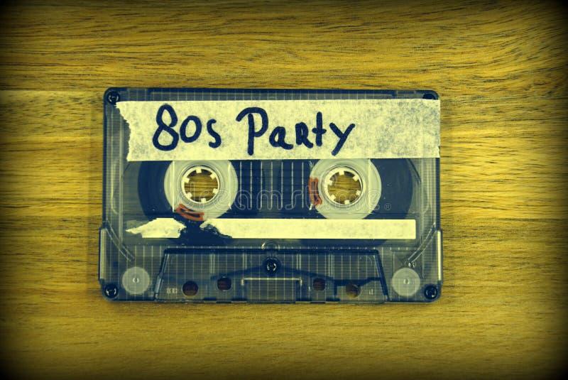 Rocznik audio kasety taśma - 80 s przyjęcie fotografia royalty free