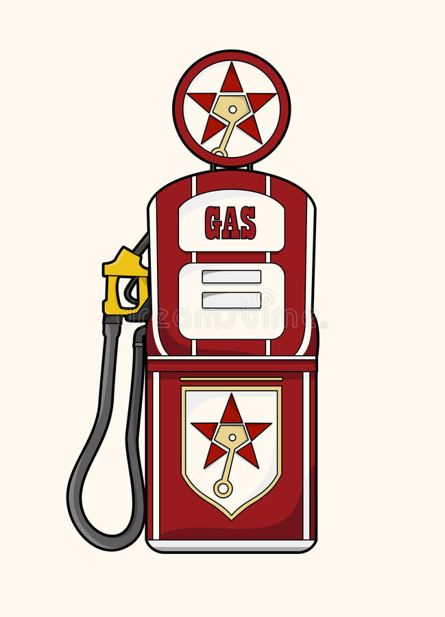 Rocznik benzynowa stacja zdjęcie stock