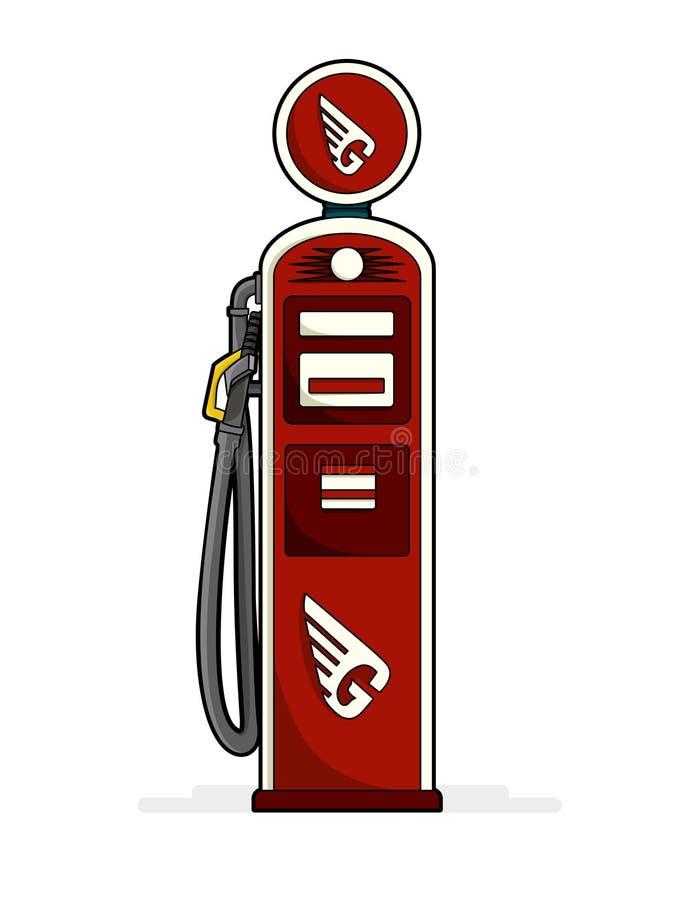 Rocznik benzynowa stacja obraz royalty free