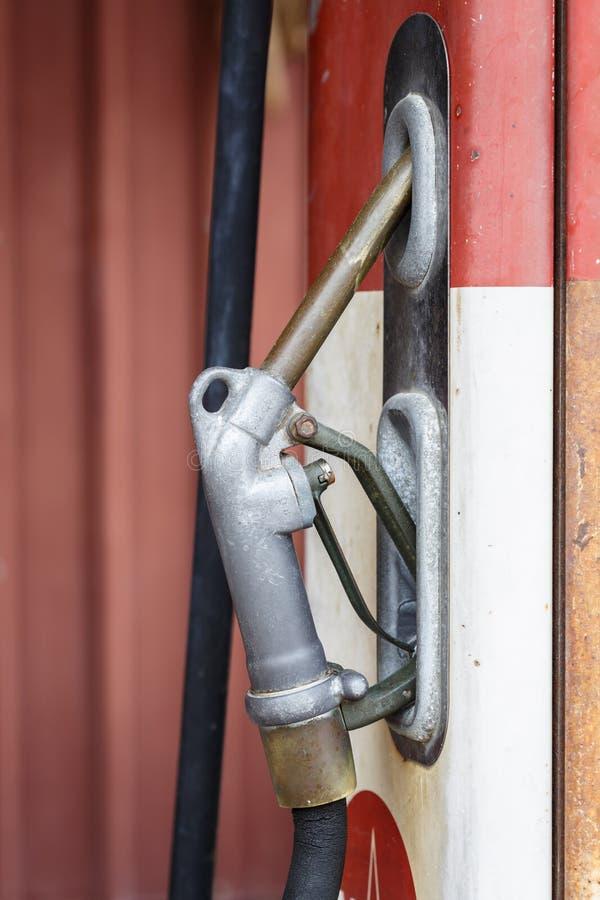 Rocznik benzyny metru paliwo obraz stock