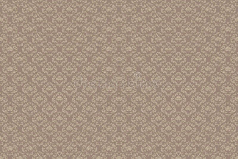 rocznik bezszwowy wzoru Tapeta w adamaszka stylu ilustracji