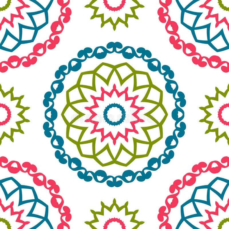 Rocznik cechy ogólnej różni bezszwowi wschodni wzory (taflować) royalty ilustracja