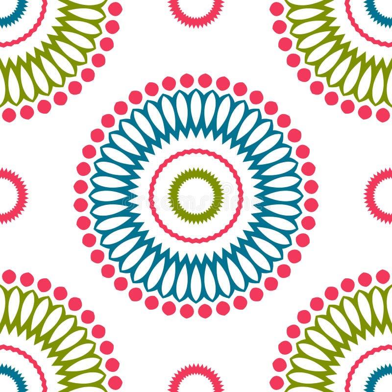 Rocznik cechy ogólnej różni bezszwowi wschodni wzory (taflować) ilustracja wektor