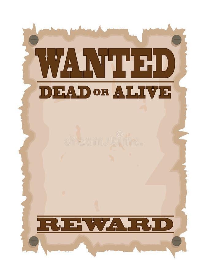 Rocznik chcieć plakat ilustracji