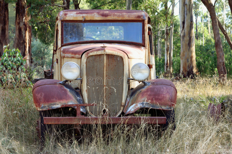 rocznik ciężarówkę fotografia stock