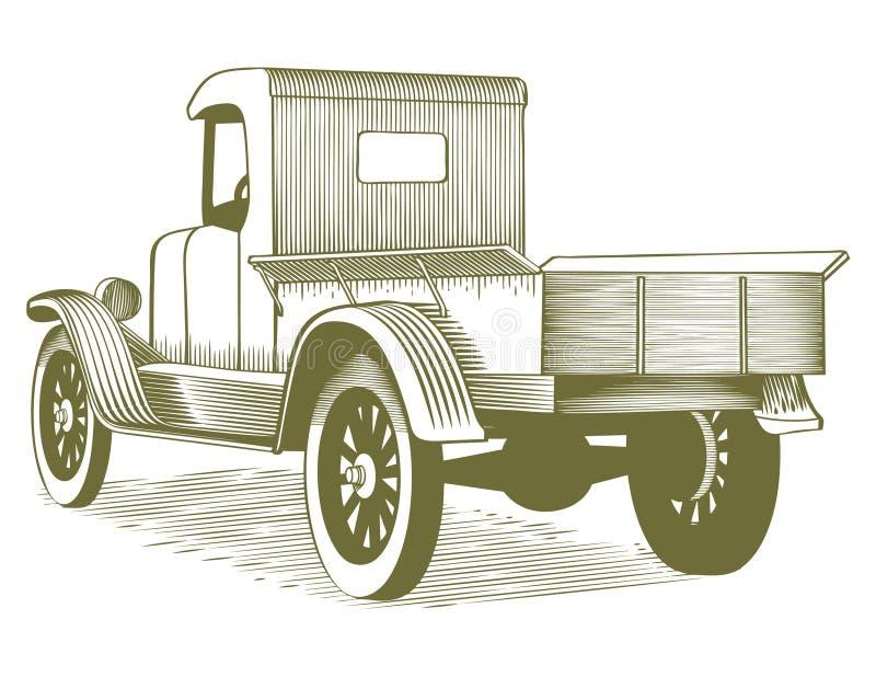 Rocznik ciężarówka ilustracji
