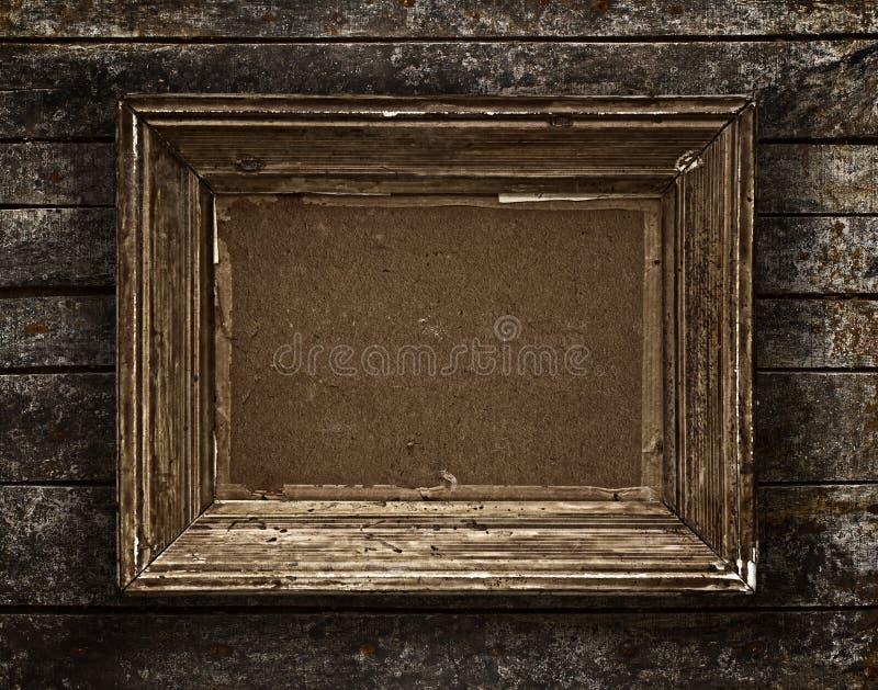 Rocznik drewniana rama fotografia stock