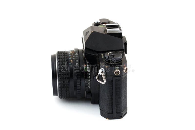 Rocznik Ekranowej kamery Biały Odosobniony tło fotografia royalty free