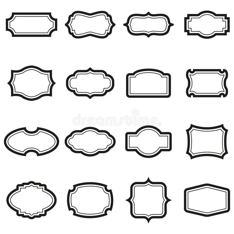 Rocznik etykietki i odznaki royalty ilustracja