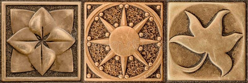 Rocznik forged dekoracyjnego element fotografia royalty free