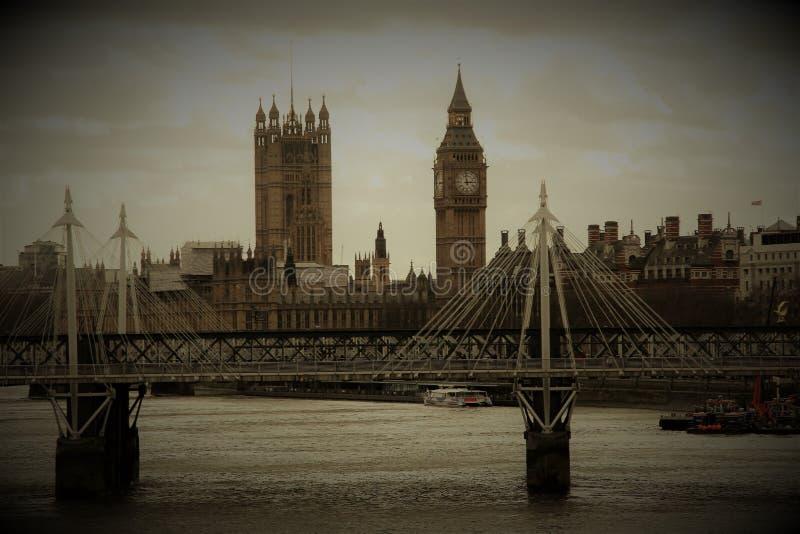 Rocznik fotografia Londyn, Wielki Brytania zdjęcie royalty free