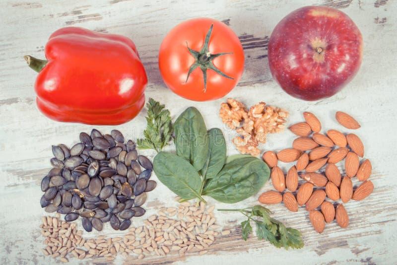 Rocznik fotografia, Naturalni składniki jako źródło witamina E, kopaliny i żywienioniowy włókno, zdjęcie stock