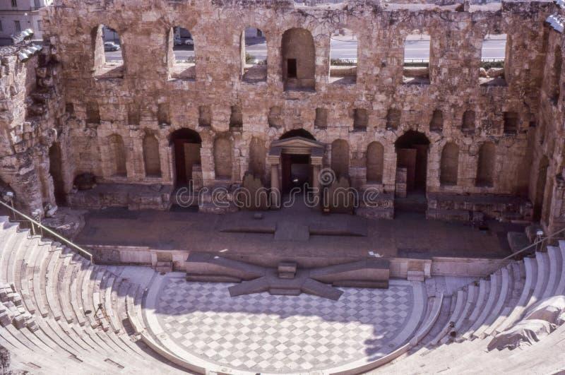 Rocznik fotografia około 1960s, Oden Herod Atticus, Ateny zdjęcie stock