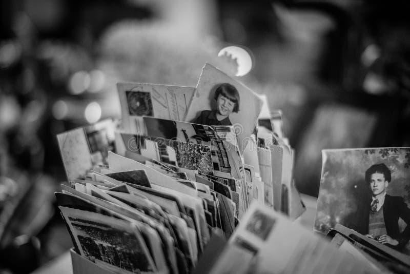 Rocznik fotografie w starym rynku zdjęcia stock