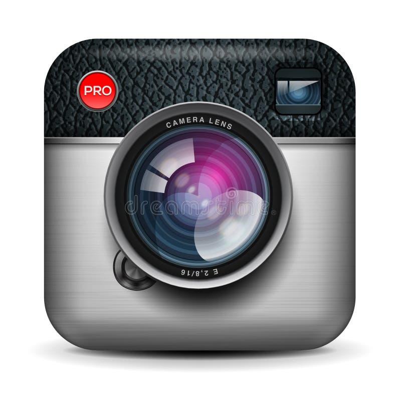Rocznik fotografii kamery ikona, wektorowy Eps10 wizerunek ilustracja wektor