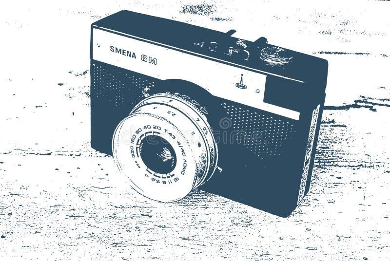 Rocznik fotografii kamery Radziecki smena 8 M, tło fotografii, lub inny fotografia stock