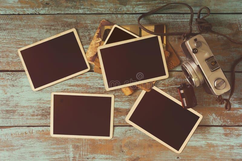 Rocznik fotografii rama obraz stock