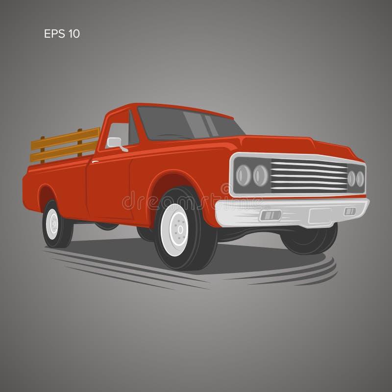 Rocznik furgonetki wektoru ilustracja Oldschool amerykanina samochód ilustracji