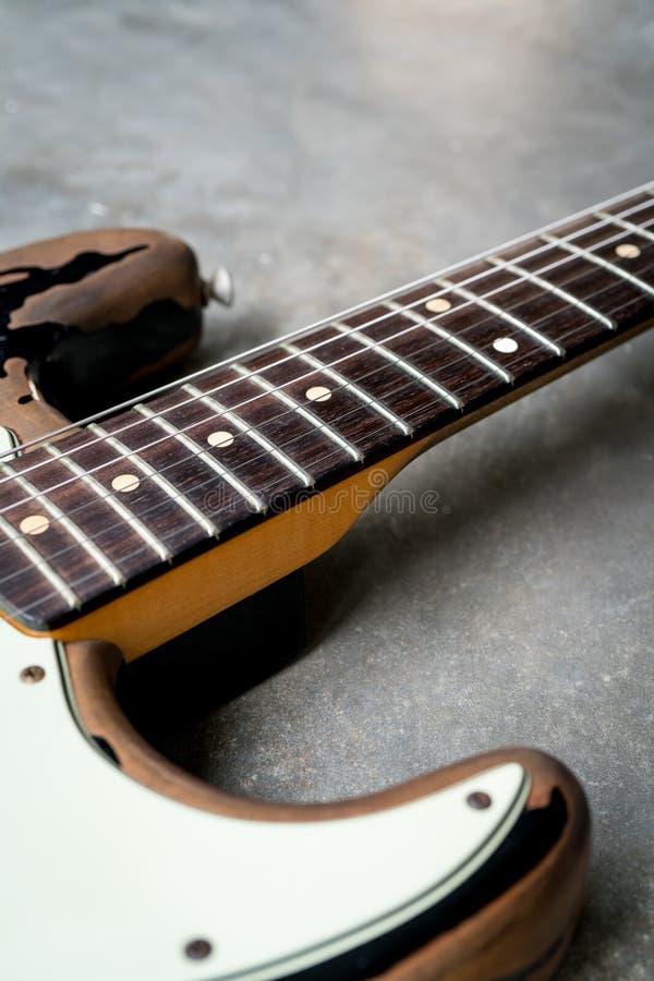 Rocznik gitary elektrycznej fingerboard obrazy stock
