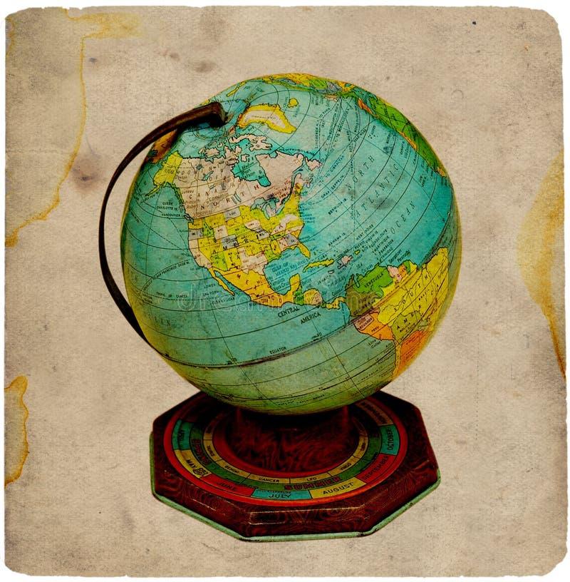 rocznik globus zdjęcia stock