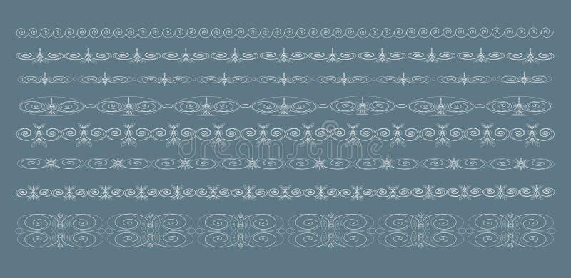 Rocznik granicy, wektor royalty ilustracja