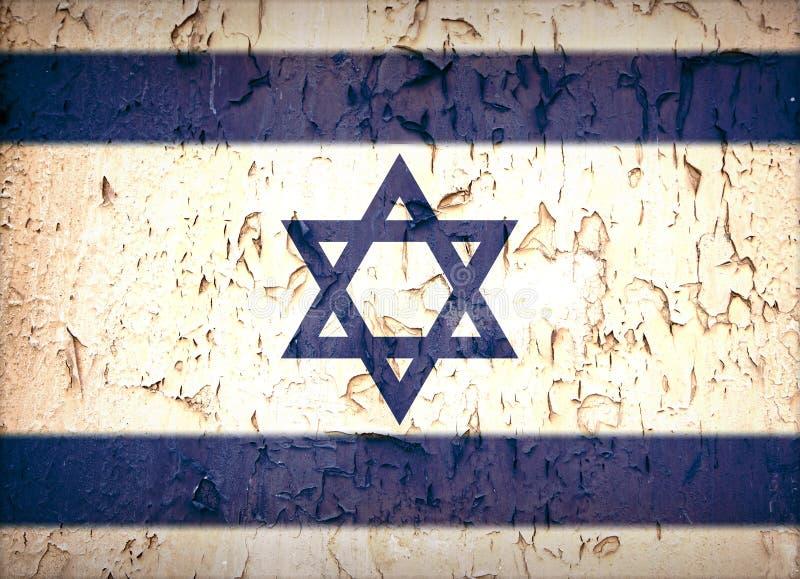 Rocznik gwiazdy dawidowa flaga obraz stock