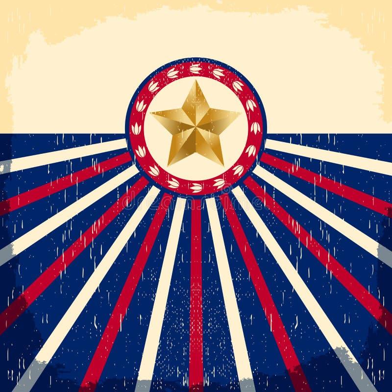 Rocznik gwiazdy flaga tło - karta ilustracji