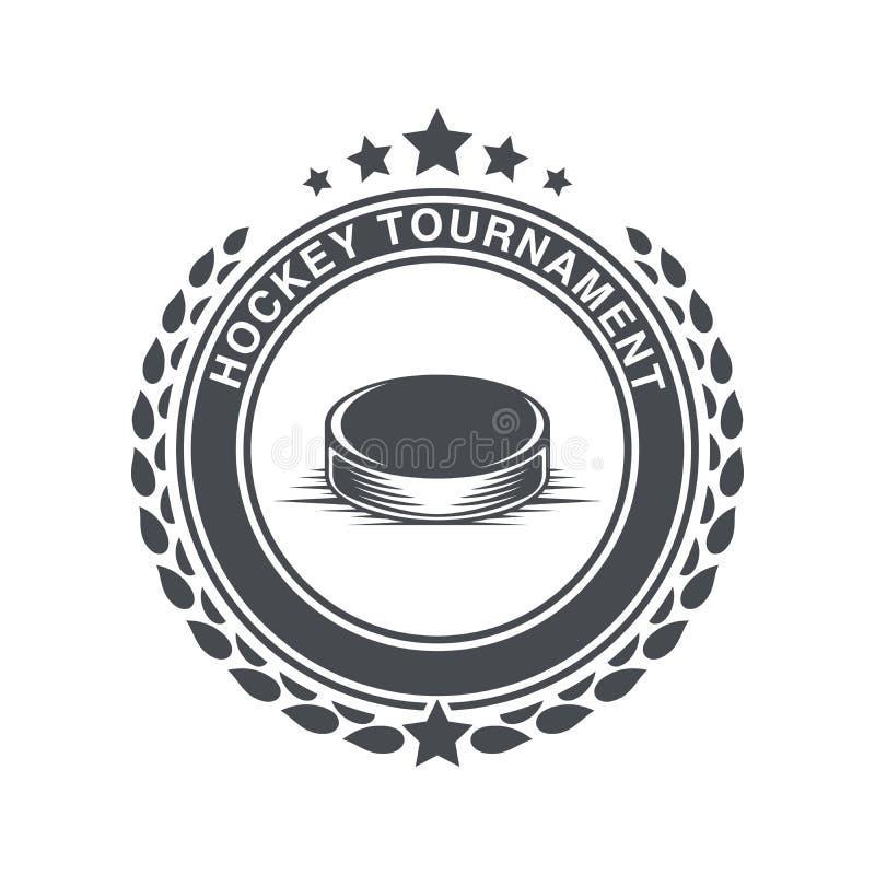 Rocznik hokejowa ikona w starym stylu royalty ilustracja