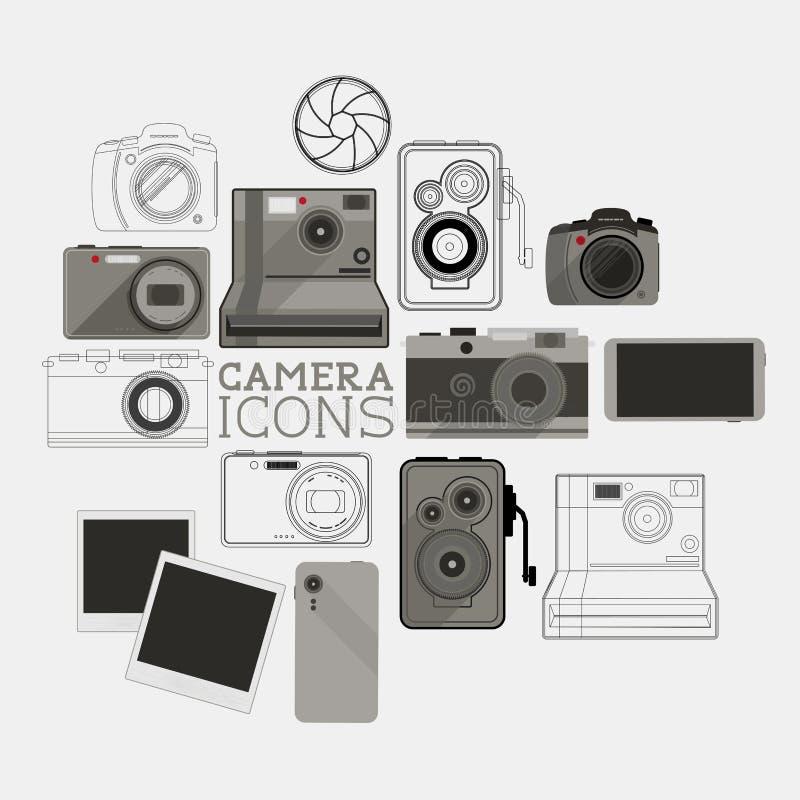 Rocznik i Nowożytny kamera set ilustracji