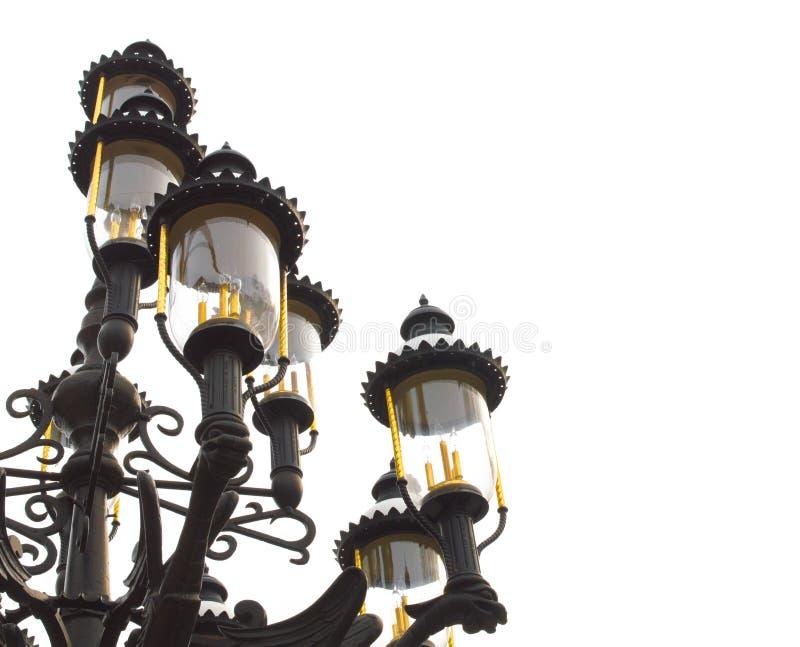 Rocznik ikonowe czarne latarnie w St Louis, Missouri fotografia royalty free