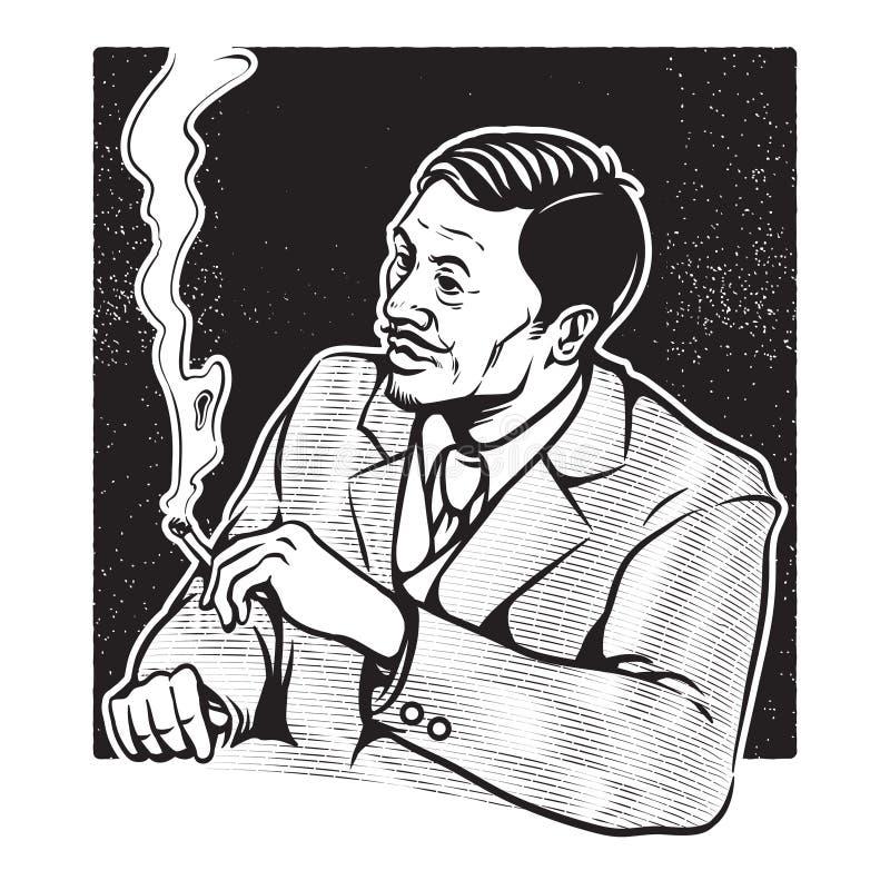 Rocznik ilustracja biznesmen ilustracji
