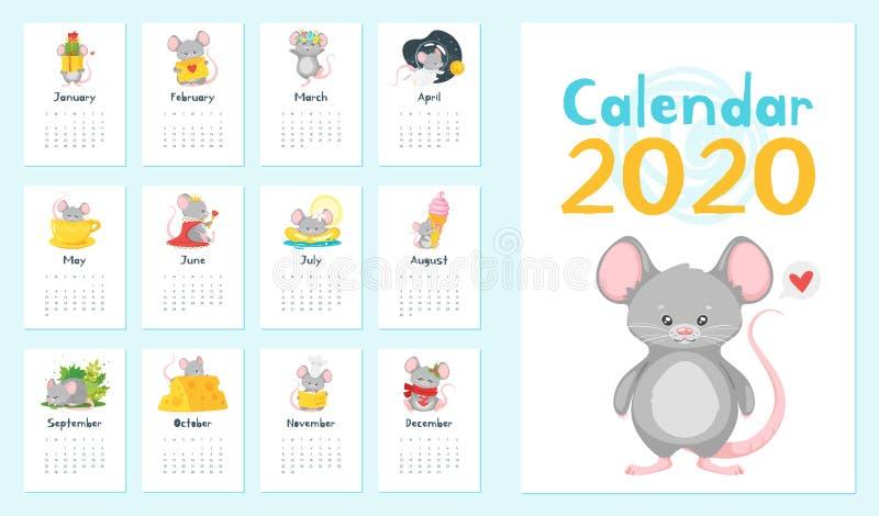Rocznik kalendarzowe wektorowe ilustracje ustawiać ilustracji
