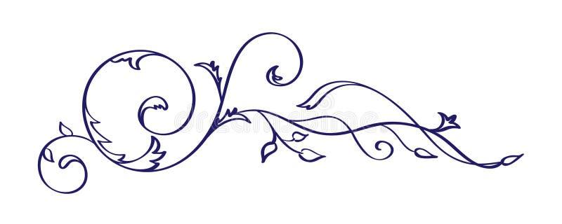 Rocznik kaligrafii zawijasa wektoru element Divider lub kąta projekt dla poślubiać i walentynka dnia, urodzinowa kartka z pozdrow ilustracja wektor
