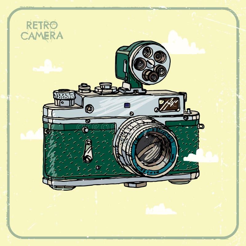 Rocznik kamera ilustracja wektor