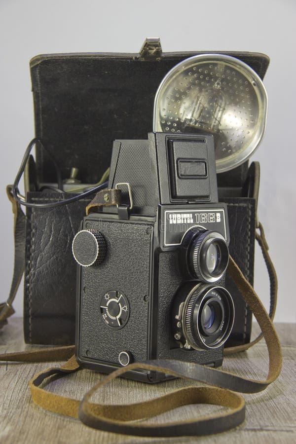 Rocznik kamera Lubitel166B fotografia stock