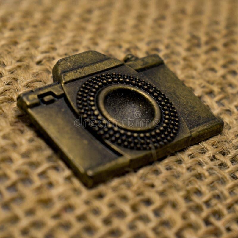 Rocznik kamery emblemat obraz royalty free