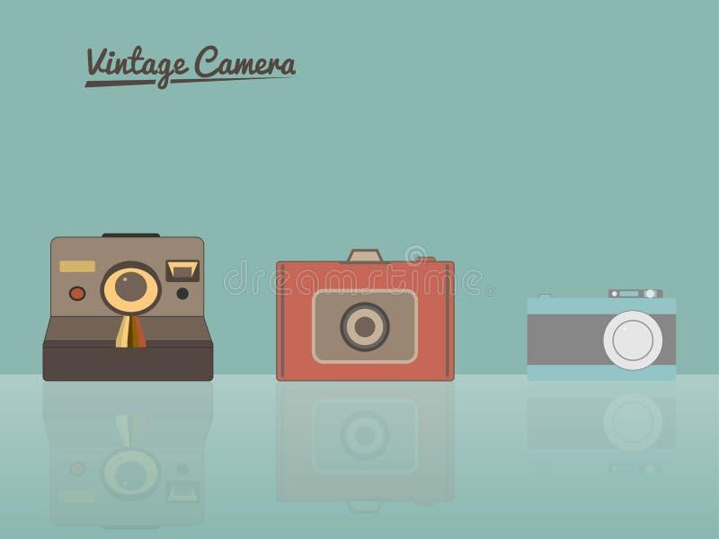 Rocznik kamery ilustracyjne ilustracja wektor