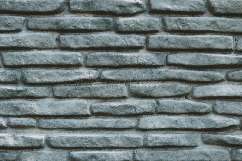 Rocznik kamiennej ?ciany popielata tekstura Dekoracyjny wzór szarości skały tło Puste miejsce ściany z cegieł betonowa powierzchn obraz royalty free