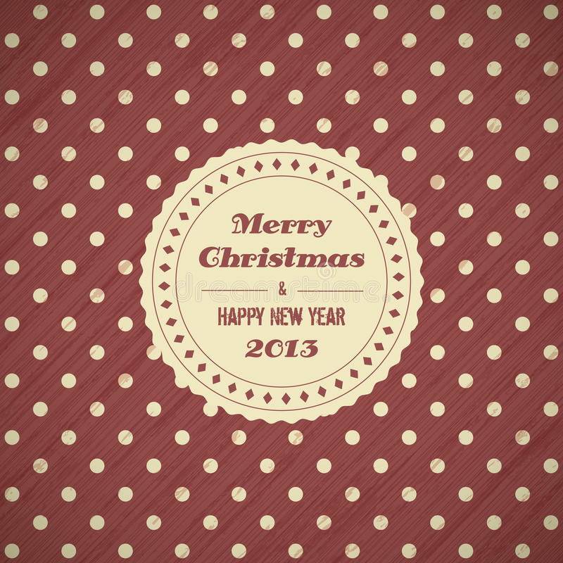 Rocznik kartki bożonarodzeniowa tło royalty ilustracja