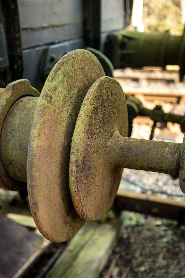 Rocznik kolei odbojnicy złącza związku połączenie zdjęcie royalty free