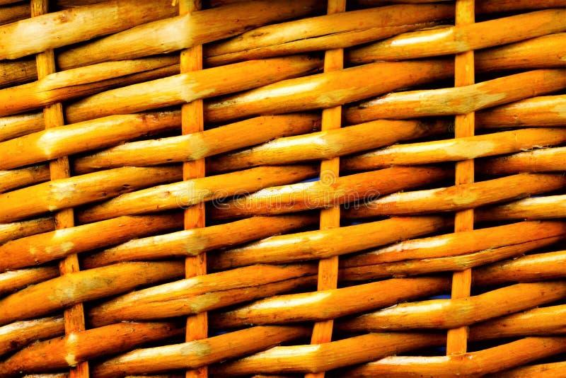 Rocznik koszykowy wyplata teksturę, tło dla projekta obraz stock